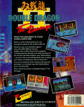 Double Dragon II: The Revenge Amiga Back Cover