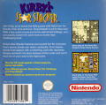 Kirby's Star Stacker Game Boy Back Cover