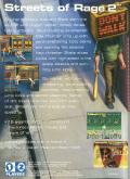 Streets of Rage 2 Genesis Back Cover