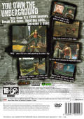 Tony  Hawk's Underground PlayStation 2 Back Cover