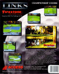 Links: Championship Course - Firestone Country Club Amiga Back Cover
