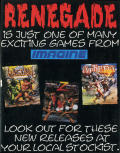 Renegade Amstrad CPC Inside Cover