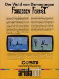 Forbidden Forest Commodore 64 Back Cover