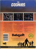 The Goonies Commodore 64 Back Cover