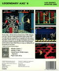 Legendary Axe II TurboGrafx-16 Back Cover