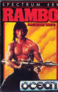 Rambo: First Blood Part II ZX Spectrum Front Cover