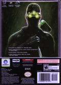 Tom Clancy's Splinter Cell: Chaos Theory (Limited Collector's Edition) GameCube Back Cover