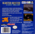 Blaster Master: Enemy Below Game Boy Color Back Cover