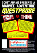 Questprobe: Featuring Human Torch and the Thing Atari 8-bit Back Cover
