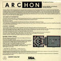 Archon: The Light and the Dark Atari 8-bit Back Cover