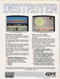 Destroyer Commodore 64 Back Cover
