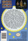 Hollywood Squares NES Back Cover