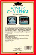 Winter Challenge: World Class Competition Commodore 64 Back Cover