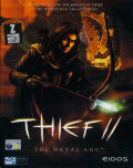 Thief II: The Metal Age Windows Front Cover Not 100% accurate on upper-left corner due to repair by retouching.