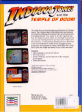 Indiana Jones and the Temple of Doom Commodore 64 Back Cover