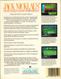 Jack Nicklaus' Greatest 18 Holes of Major Championship Golf Commodore 64 Back Cover