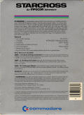 Starcross Commodore 64 Back Cover