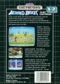 Altered Beast Genesis Back Cover