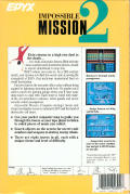 Impossible Mission II Atari ST Back Cover