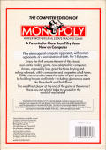 Monopoly Commodore 64 Back Cover