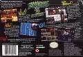 Zombies Ate My Neighbors SNES Back Cover