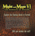Might and Magic VI: The Mandate of Heaven Windows Other Jewel Case - Front Inside