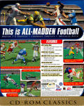 Madden NFL 99 Windows Back Cover