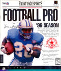 Front Page Sports: Football Pro '96 Season DOS Front Cover