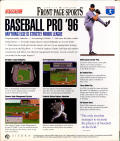 Front Page Sports: Baseball Pro '96 Season Windows Back Cover