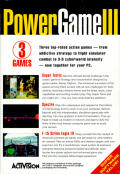 Power Game III DOS Back Cover