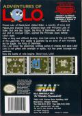 Adventures of Lolo NES Back Cover