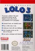 Adventures of Lolo 3 NES Back Cover