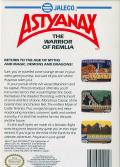 Astyanax NES Back Cover
