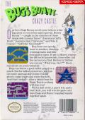 The Bugs Bunny Crazy Castle NES Back Cover