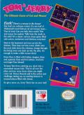 Tom & Jerry NES Back Cover