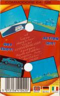 Crazy Cars Commodore 64 Back Cover