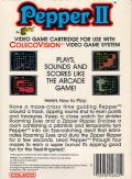 Pepper II ColecoVision Back Cover