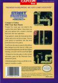 Street Fighter 2010: The Final Fight NES Back Cover