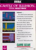 Castle of Illusion starring Mickey Mouse Game Gear Back Cover