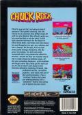 Chuck Rock SEGA CD Back Cover