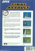 Final Assault Amiga Back Cover