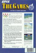 The Games: Winter Edition Amiga Back Cover