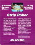 Strip Poker: A Sizzling Game of Chance Atari 8-bit Back Cover