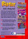 Ristar Genesis Back Cover