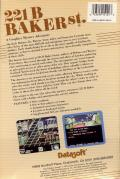 221 B Baker St. Commodore 64 Back Cover