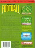 NES Play Action Football NES Back Cover