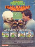 Super Action Football ColecoVision Back Cover