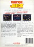 Donkey Kong Junior ColecoVision Back Cover