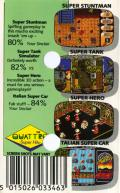 Quattro Super Hits Amstrad CPC Back Cover