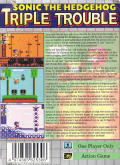 Sonic the Hedgehog: Triple Trouble Game Gear Back Cover